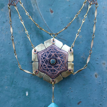 Sacred geometric pendent of Metatrons cube