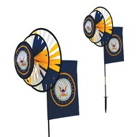 U.S. Navy Dual Spinner Wheels with Flag