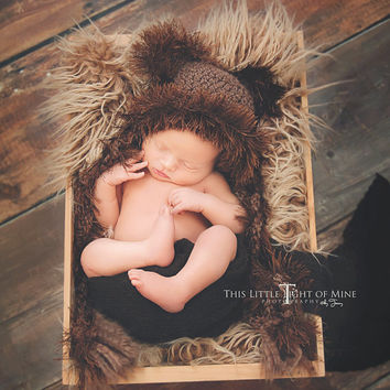 Baby Bear Outfit - Bear clothes - Teddy bear hat - baby bear hat - teddy bear - crochet bear hat - newborn bear hat - newborn photo prop