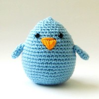 Cute Amigurumi Blue Bird chick baby boy by sabahnur on Etsy