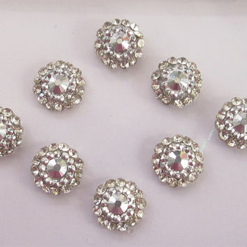 Silver Roll Round Bindis In One Pack stud with rhinestones/Indian India Bindis/Bindi Sticker/Bindi Jewels/Face Jewels/Pearl Bindis