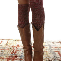 Multi Colored Knee High Socks - Black, Rust