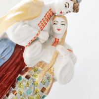 "USSR vintage porcelain figurine ""Ukrainian May night"" - USSR vintage - 1970s - Hand painted"
