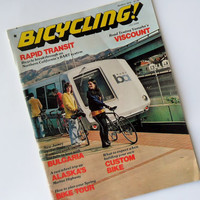 Vintage Bicycling Magazine 1975 March Issue Bike Tours Bicycle Ads