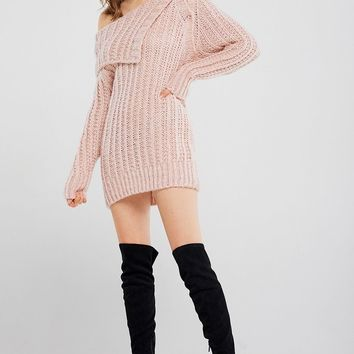 Ann Button Off-the-shoulder Pullover