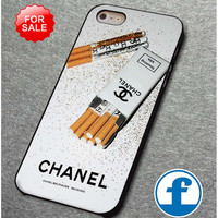 Girly White Glitter Chanel Cigarettes Packet for iphone, ipod, samsung galaxy, HTC and Nexus PHONE CASE