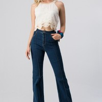 High Waisted Retro Trumpet Jeans