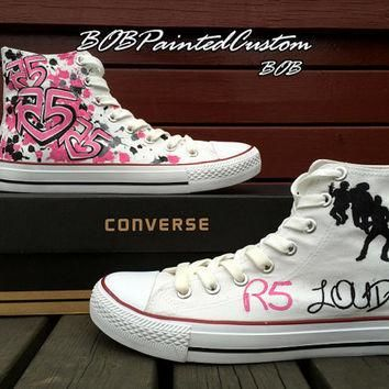 Pink Converse Design Custom Painted Hand Painted Shoes,Hand Paint Canvas Shoes,Custom