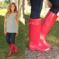 Rainy Day Rain Boots in Red