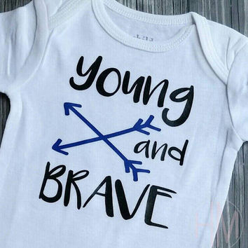 Young And Brave Vinyl Shirt
