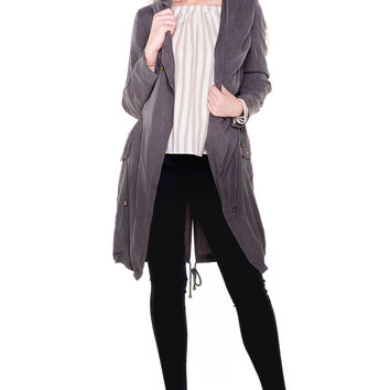 (akv) Hooded trench jacket