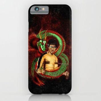 The Dragon with rainbow ray ban eye glass pencils color art iPhone & iPod Case by Gree
