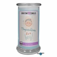 Congrats, It's A Boy ! | Jewelry Greeting Candles