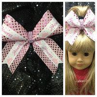 Cheer Bow -For your Princess & her American Girl Doll -set of 2 matching