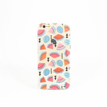 Geometric Watermelon - Clear TPU Case Cover Phone Case