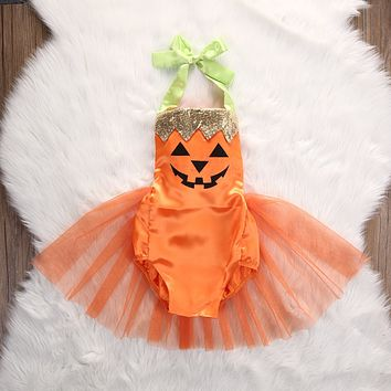 Fashion Romper Dress for Newborn Baby's First Christmas Costumes Baby Girls Halloween Romper Tutu Dress Costume Clothes Outfit