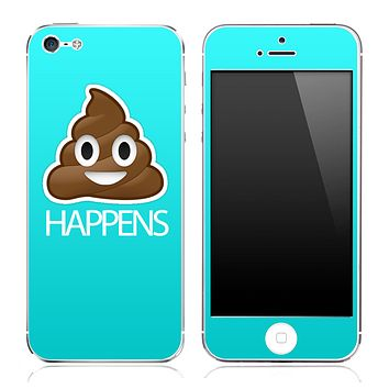 Crap Happens Solid Turquoise Skin for the iPhone 3gs, 4/4s or 5