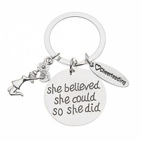 Cheer She Believed She Could So She Did Keychain