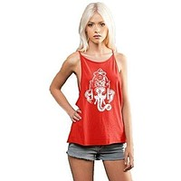 Womens Ganesha Head Spaghetti Yoga Tank Top