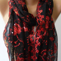 Ruby - Elegant ...Turkish Shawl / Scarf....
