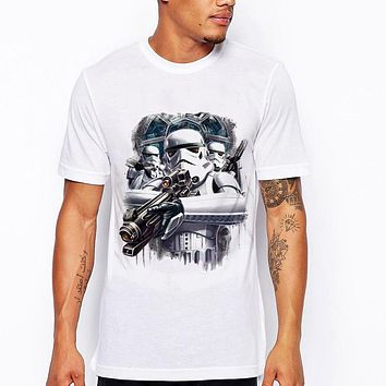 Arrival Hip hop Men t-shirt Storm trooper funny design male short sleeve star wars Funny tee