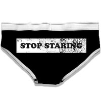 """Stop Staring"" Fun-Derwear by Badcock Apparel (Black)"