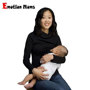 Emotion Moms Turtleneck Maternity clothes Nursing clothes Nursing Tops Breastfeeding Tops for Pregnant Women Maternity Top&shirt