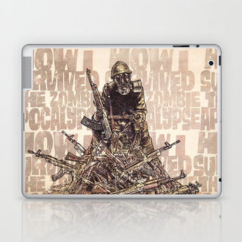 How I Survived The Zombie Apocalypse (colour option) Laptop & iPad Skin by Eric Fan | Society6