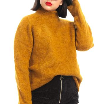 Vintage 90's Mustard on a Roll Sweater - One Size Fits Many