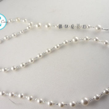 Personalized Rosary First Communion Baptism Christening  Name Pearl First Communion Confirmation Religious Gift