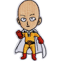 One Punch Man Saitama Iron-On Patch