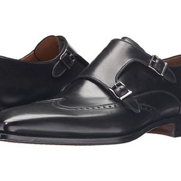 11d45993920 Magnanni Men s Black Monkstrap Shoes