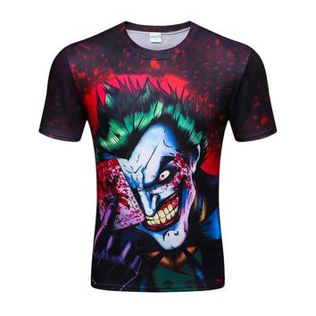 Colorful 3D Printed High Quality Tees #joker2