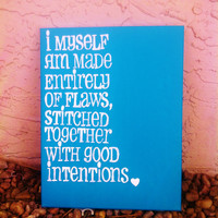 Hand Painted Canvas  Good Intentions by Canleo on Etsy
