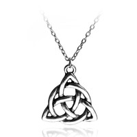 Classic Silver Irish Trinity Knot Pendant And Necklace