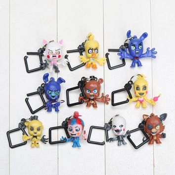 10pcs/lot  5  With Freddie Five Night At Freddy Game Bear Foxy Bonnie Chica Mangle Figures Toy for Boys