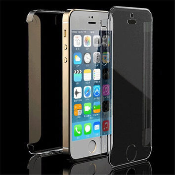 Transparent Case Cover for Apple iPhone (55s, 44s)