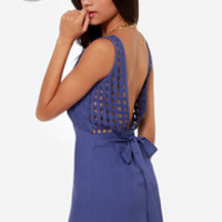 LULUS Exclusive Didn't Start the Fire Indigo Blue Dress