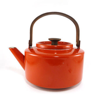 Orange Michael Lax Copco tea kettle