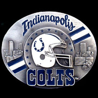 Indianapolis Colts NFL Enameled Belt Buckle