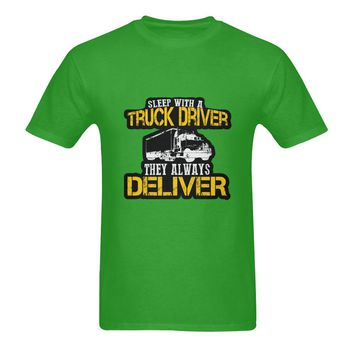 Sleep With A Truck Driver They Always Deliver Sunny Men's T-shirt (USA Size) (Model T02)