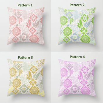 Decorative Throw Pillow - Choose pattern, Square, Rectangular, Double-sided print, Indoors, Outdoors, Cotton, Velveteen, Gold, Green, Lilac