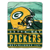 Green Bay Packers NFL Silk Touch Throw (Stacked Series) (60inx80in)
