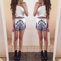 FASHION PRINTED TWO-PIECE
