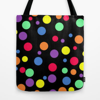 Colored Polka Dots Tote Bag by Colorful Art | Society6