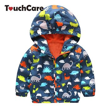Clearance Fashion Baby Boy Jackets Softshell Hooded Animal Printed Baby Coat Outerwear Kids Spring Autumn Children Clothing