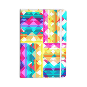 "Miranda Mol ""Triangle Checker"" Pastel Rainbow Everything Notebook"