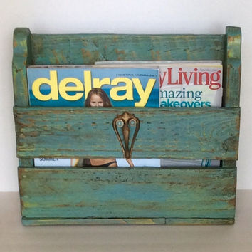 Rustic Magazine Holder