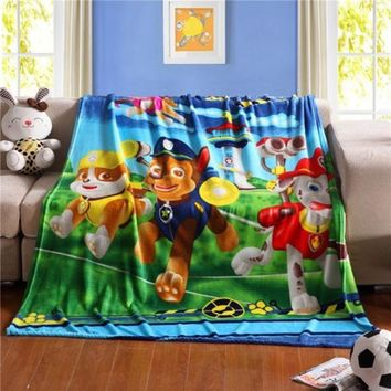 Home Textile paw patrol Cartoon Flannel Blankets For Children Baby Boys Minions Batman Fleece Blanket 150*200cm Kids Warm Sheet