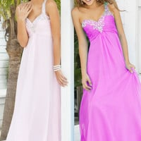 2012 Spring Modest Empire One Shoulder Long Prom Dresses Style 9373-8,Most Popular Prom Dresses